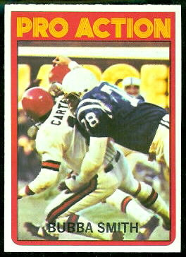 Bubba Smith Pro Action 1972 Topps football card