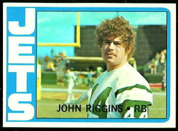 John Riggins 1972 Topps football card