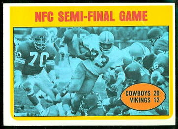 NFC Semi-Final Game 1972 Topps football card