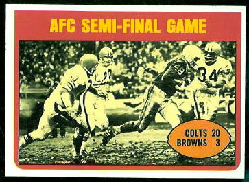 AFC Semi-Final Game 1972 Topps football card