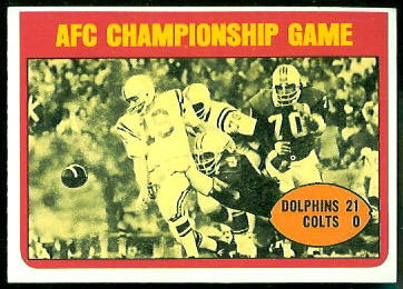 AFC Championship Game 1972 Topps football card