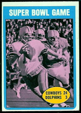 Super Bowl Game 1972 Topps football card