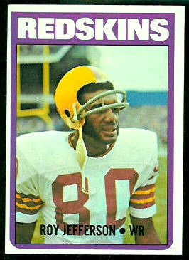 Roy Jefferson 1972 Topps football card