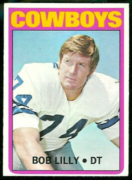 Bob Lilly 1972 Topps football card
