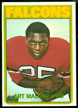Art Malone 1972 Topps football card