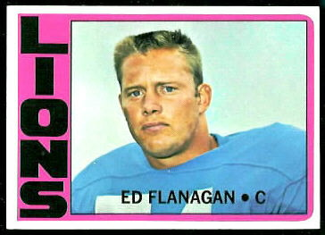 Ed Flanagan 1972 Topps football card