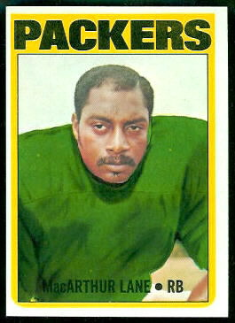 MacArthur Lane 1972 Topps football card
