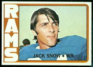 Jack Snow 1972 Topps football card