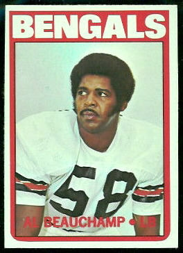 Al Beauchamp 1972 Topps football card