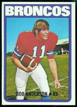 Bob Anderson 1972 Topps football card