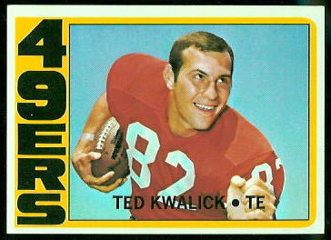 Ted Kwalick 1972 Topps football card