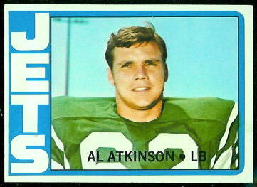 Al Atkinson 1972 Topps football card