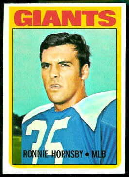 Ron Hornsby 1972 Topps football card