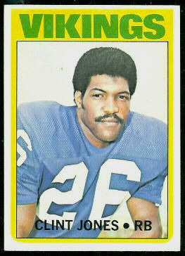 Clint Jones 1972 Topps football card