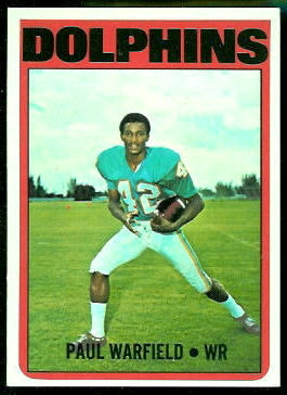 Paul Warfield 1972 Topps football card