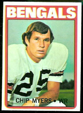 Chip Myers 1972 Topps football card