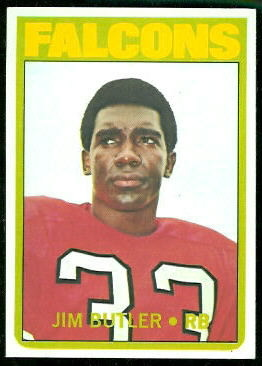 Jim Butler 1972 Topps football card