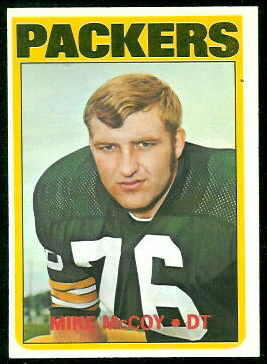 Mike McCoy 1972 Topps football card