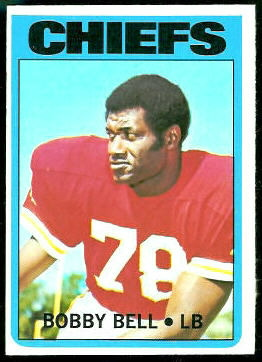 Bobby Bell 1972 Topps football card