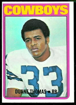Duane Thomas 1972 Topps football card