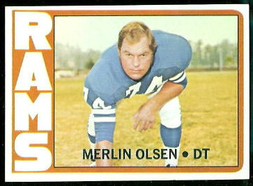 Merlin Olsen 1972 Topps football card