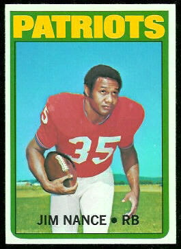 Jim Nance 1972 Topps football card