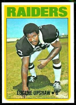 Gene Upshaw 1972 Topps football card