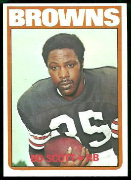 Bo Scott 1972 Topps football card