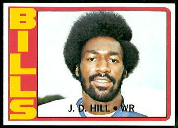 J.D. Hill 1972 Topps football card