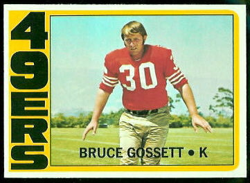 Bruce Gossett 1972 Topps football card