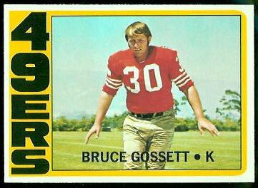 Bruce Gossett 1972 Topps football card