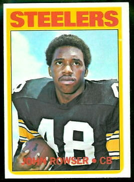 John Rowser 1972 Topps football card