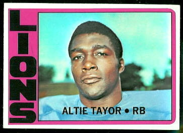 Altie Taylor 1972 Topps football card