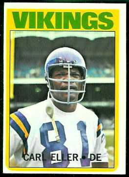 Carl Eller 1972 Topps football card