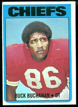 Buck Buchanan 1972 Topps football card