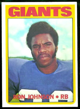 Ron Johnson 1972 Topps football card