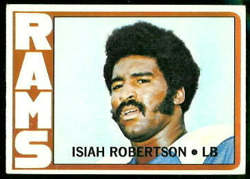 Isiah Robertson 1972 Topps football card