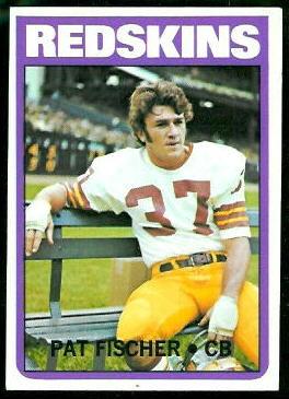 Pat Fischer 1972 Topps football card