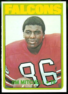 Jim Mitchell 1972 Topps football card