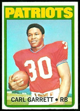 Carl Garrett 1972 Topps football card