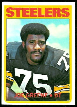 Joe Greene 1972 Topps football card