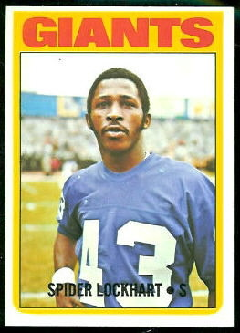 Spider Lockhart 1972 Topps football card