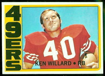 Ken Willard 1972 Topps football card