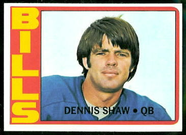 Dennis Shaw 1972 Topps football card