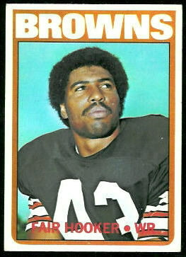 Fair Hooker 1972 Topps football card