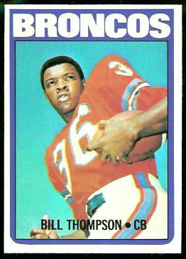 Bill Thompson 1972 Topps football card