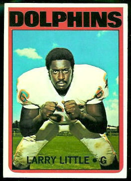 Larry Little 1972 Topps football card