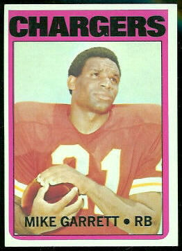 Mike Garrett 1972 Topps football card