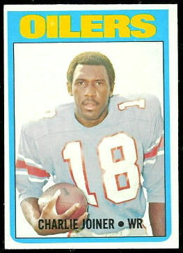 Charlie Joiner 1972 Topps football card