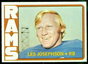 Les Josephson 1972 Topps football card
